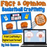 Fact and Opinion Craftivity (Basketball)