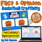 Fact and Opinion Craftivity (Basketball)