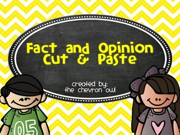 Fact and Opinion Cut and Paste