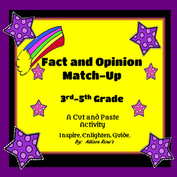 Fact and Opinion Cut and Paste: 3rd Through 5th Grade