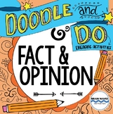 Fact and Opinion - Doodle Notes and Learning Activities - Reading Passages