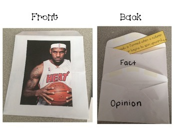 Fact and Opinion Envelope Sort