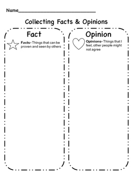 Fact and Opinion FREEBIE