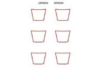 Fact and Opinion Flip Book