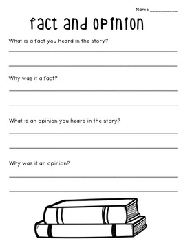 Fact and Opinion: Flipchart and Worksheets