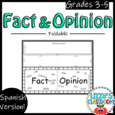 Fact and Opinion Foldable * Spanish *