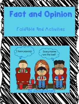 Fact and Opinion Foldable and Activities