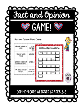 Fact and Opinion Game!