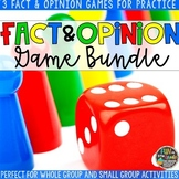 Fact and Opinion Game Bundle | Fact and Opinion Review Games