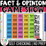 Fact and Opinion Game Show PowerPoint Review Game