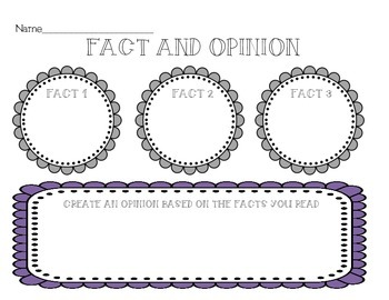 Fact and Opinion Graphic Organizers