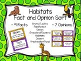 Fact and Opinion Habitat Sort
