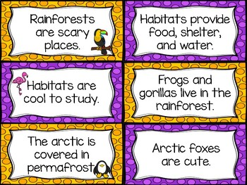 Fact and Opinion Habitat Sort