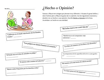 Fact and Opinion/ Hecho o Opinion