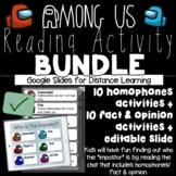 Fact and Opinion / Homophones Among Us Activity BUNDLE (Di