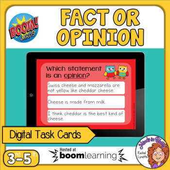 Fact and Opinion Digital Boom Cards - FREE!