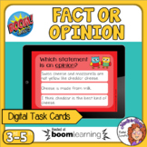 Fact and Opinion Interactive Digital Task Cards - FREE!