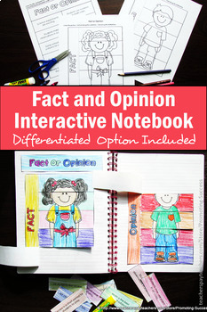 Foldable Fact and Opinion Interactive Notebook, Literacy Centers