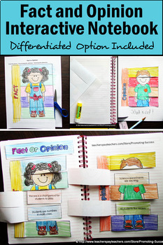 Foldable Fact and Opinion Activities, Fact and Opinion Interactive Notebook