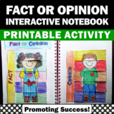 Fact and Opinion Interactive Notebook Reading Centers Special Education