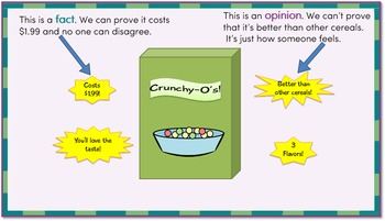 Fact and Opinion Interactive PowerPoint
