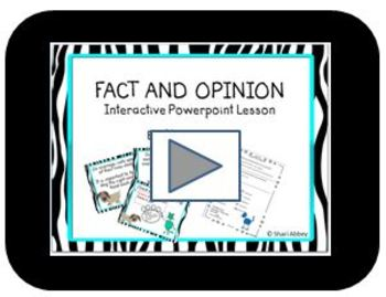 Fact and Opinion Interactive Screencast Video