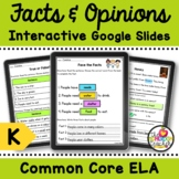 Fact vs Opinion Digital Activities on Google Slides for Kindergarten & Pre-K