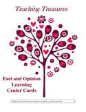 Fact and Opinion Learning Center Cards