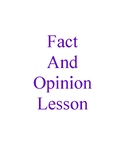Fact and Opinion Lesson