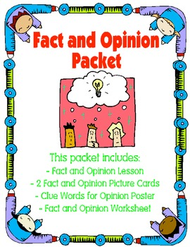 Fact and Opinion Lesson Packet