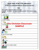 Fact and Opinion Lesson Plan Worksheets