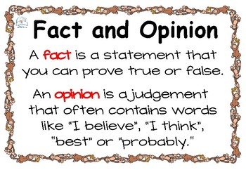 Fact and Opinion Task Cards, Games, Lessons, Worksheets for Facts & Opinions