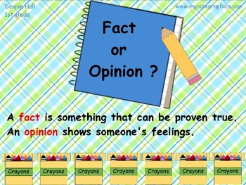 Fact and Opinion Magic Reveal