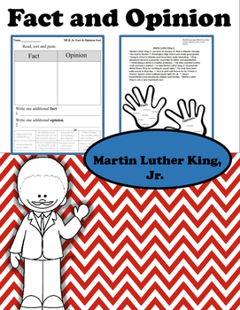 Fact and Opinion Martin Luther King, Jr. Readings