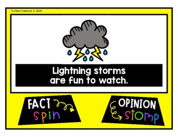 Fact and Opinion Movement - Interactive Game {Science Themed}