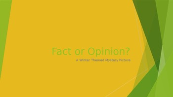 Fact and Opinion Mystery Picture *Winter Theme*