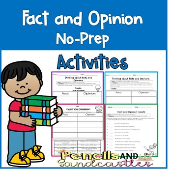 Fact and Opinion No Prep Activities