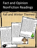 Fact and Opinion NonFiction Readings - Fall and Winter