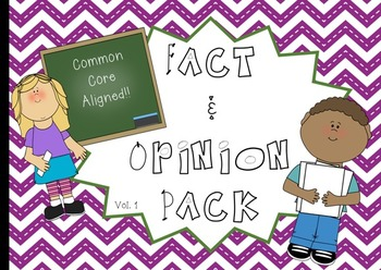 Fact and Opinion Pack: Volume 1