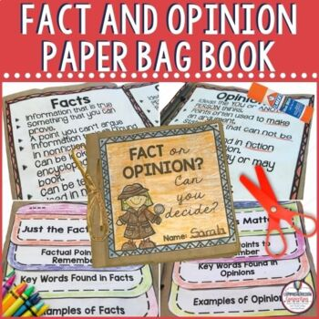 It's time for kids to put on their detective caps to determine facts and opinions. With this hands on book, students write in detail about the difference between facts and opinions, sort examples, identify signal words, apply to reading, and explain their learning. Use as guided practice or as an assessment.