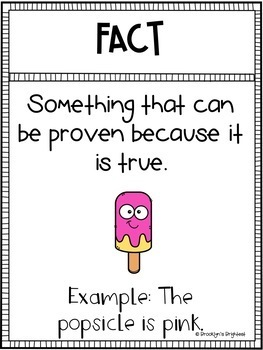 Fact and Opinion Passage, Sort, Posters, & Task Cards