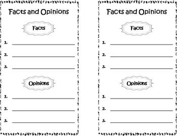 Fact and Opinion Photo Task Cards