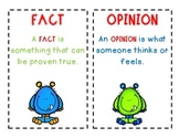 Fact and Opinion Poster