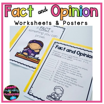 Fact and Opinion Worksheets and Posters