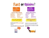 Fact and Opinion Poster with examples/ signal words!