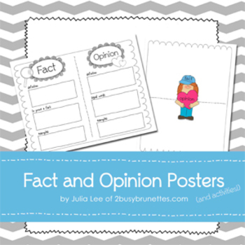 Fact and Opinion Posters