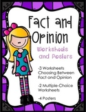 Fact and Opinion Posters and Worksheets
