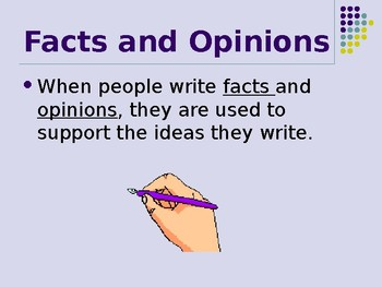 Fact and Opinion Power Point