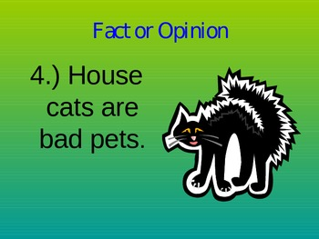 Fact and Opinion Power Point- Lesson