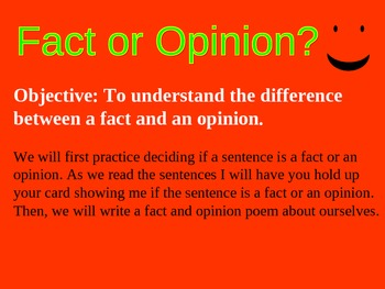 Fact and Opinion Power Point Presentation